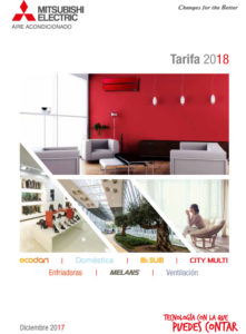 Tarifa Mitsubishi Electric Aire Acondicionado 2018