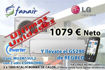 OFERTA LG 2 X 1 1079 € NETO