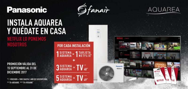Nueva promoción de Aquarea con Netflix de Panasonic.