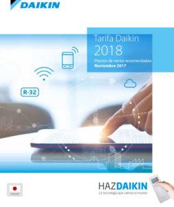 Avance de la Tarifa de Daikin 2018