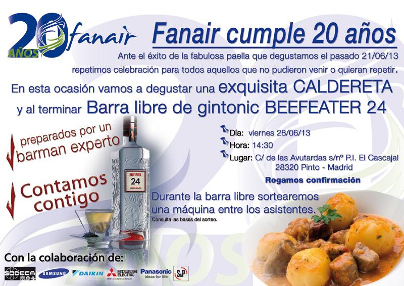 Caldereta 20 aniversario Fanair