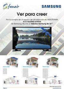 Consigue una TV SAMSUNG con los sistemas de AEROTERMIA SAMSUNG