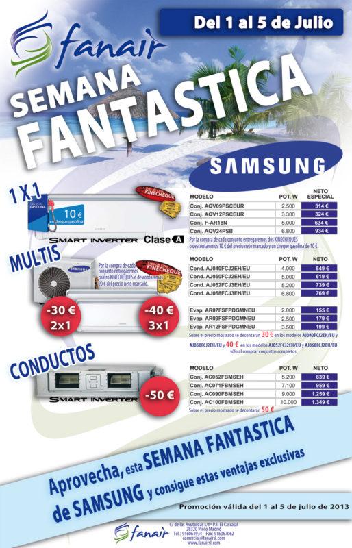 Semana Fantástica de Samsung Aire Acondicionado en Fanair