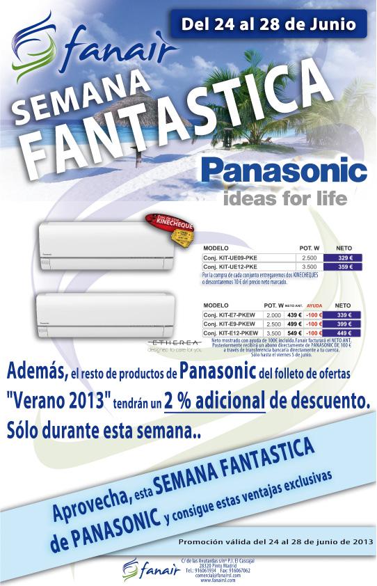 Semana Fantástica Panasonic en Fanair