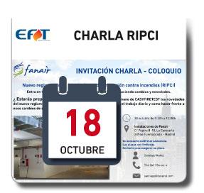 CHARLA RIPCI 18 DE OCTUBRE EN FANAIR