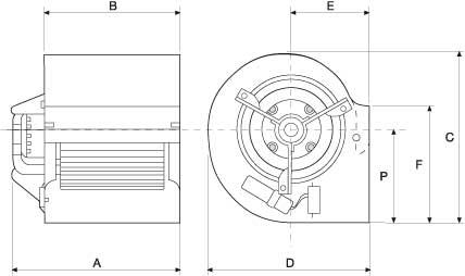 Dimensiones ventilador motor directo VMD