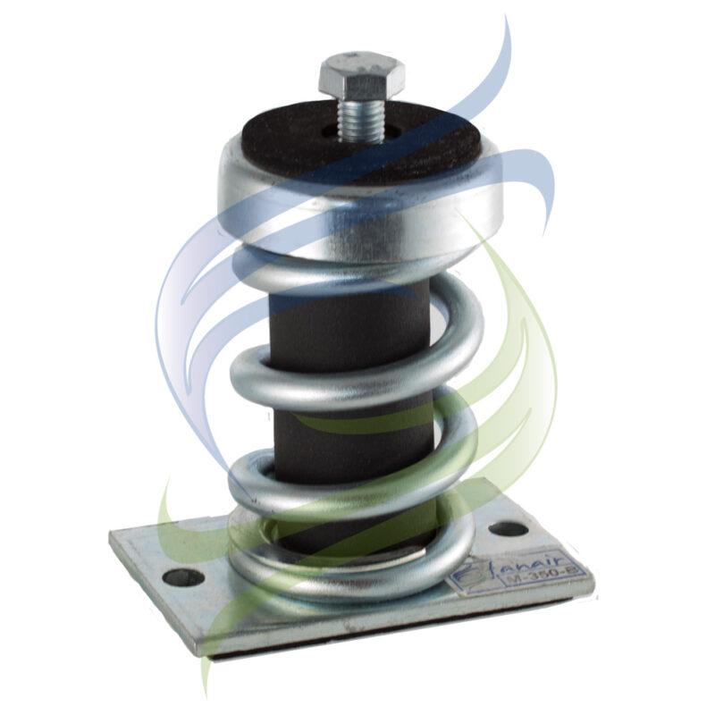 amortiguador metalico base tornillo