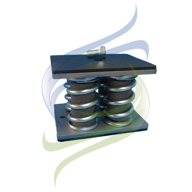 amortiguador metalico cuatro bases M
