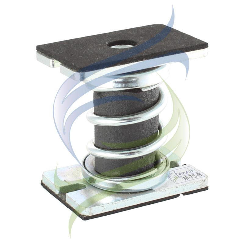 amortiguador metalico doble base M