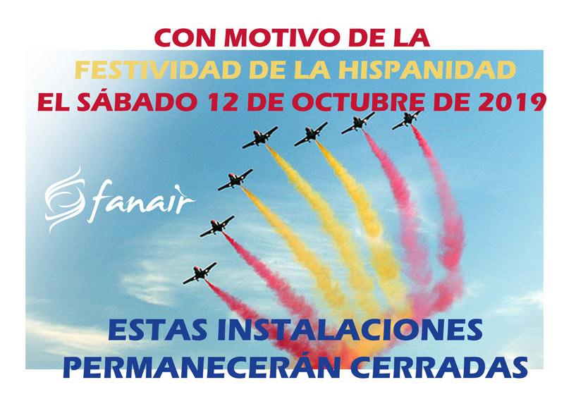 Fanair cierra el sábado 12 de octubre de 2019