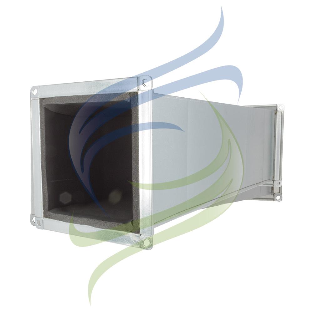 conducto rectangular perfil integral aislado