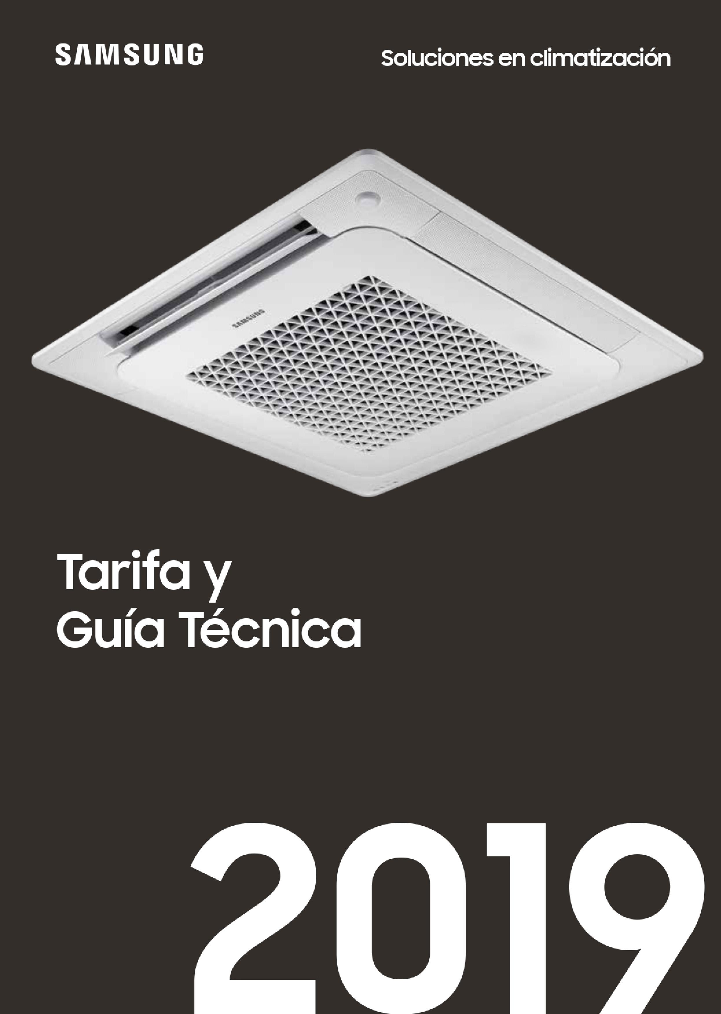 Tarifa SAMSUNG 2019 aire acondicionado