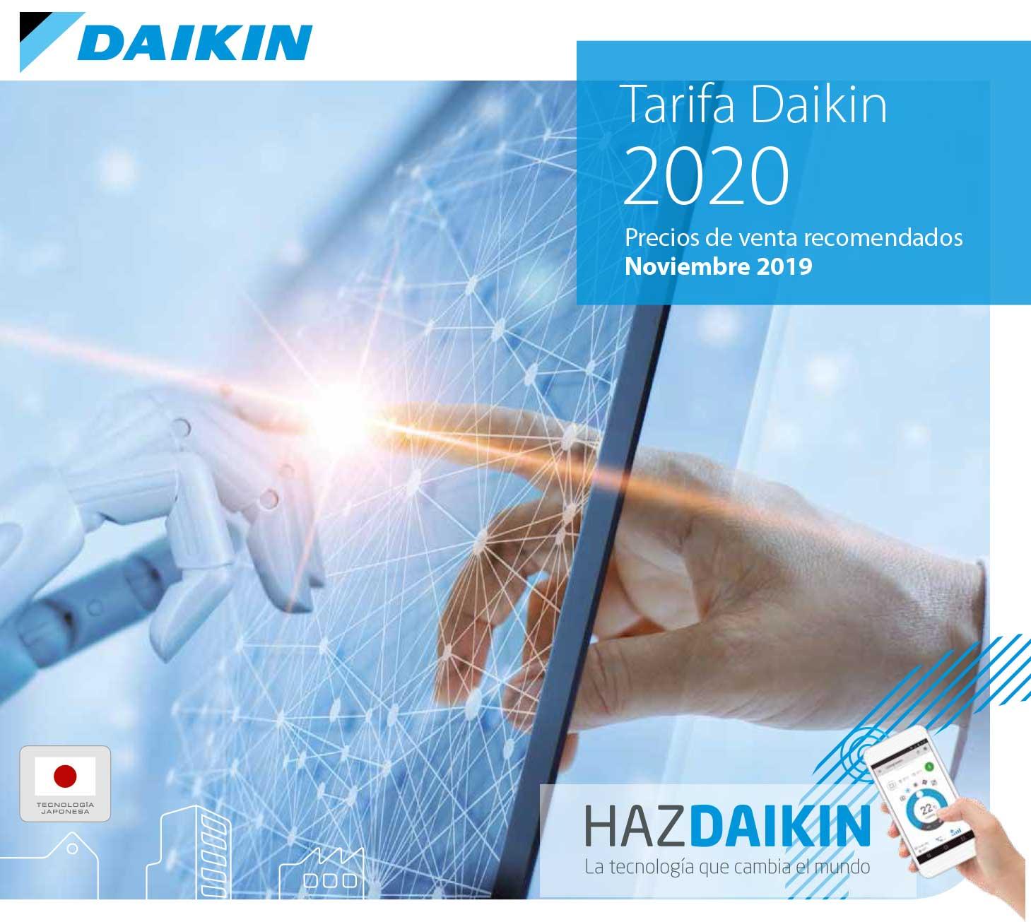 Avance Tarifa Daikin 2020