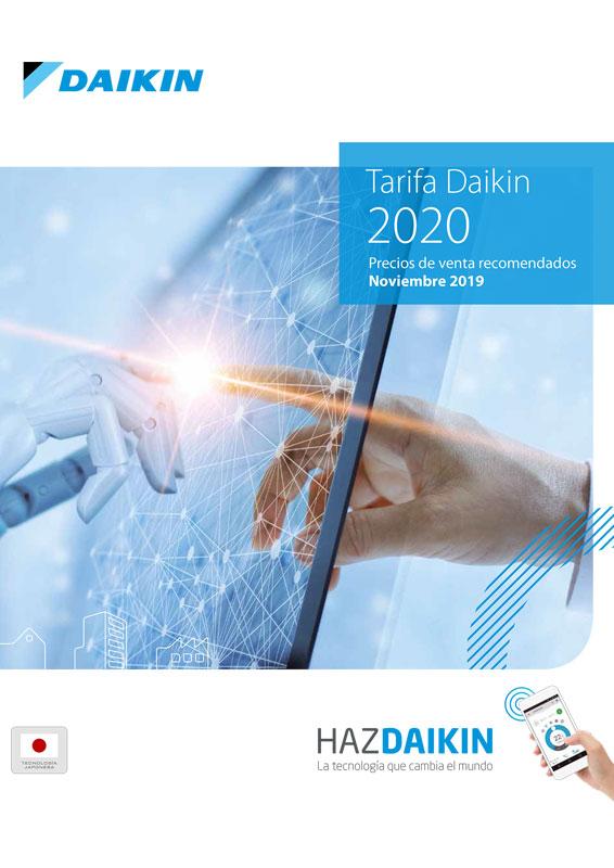 Avance de la tarifa Daikin 2020