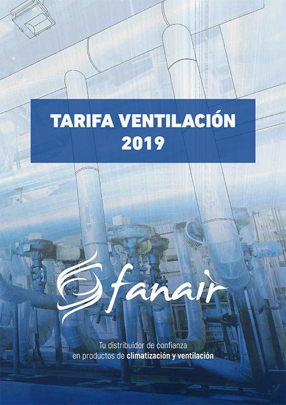 Tarifa Ventilación Fanair 2019
