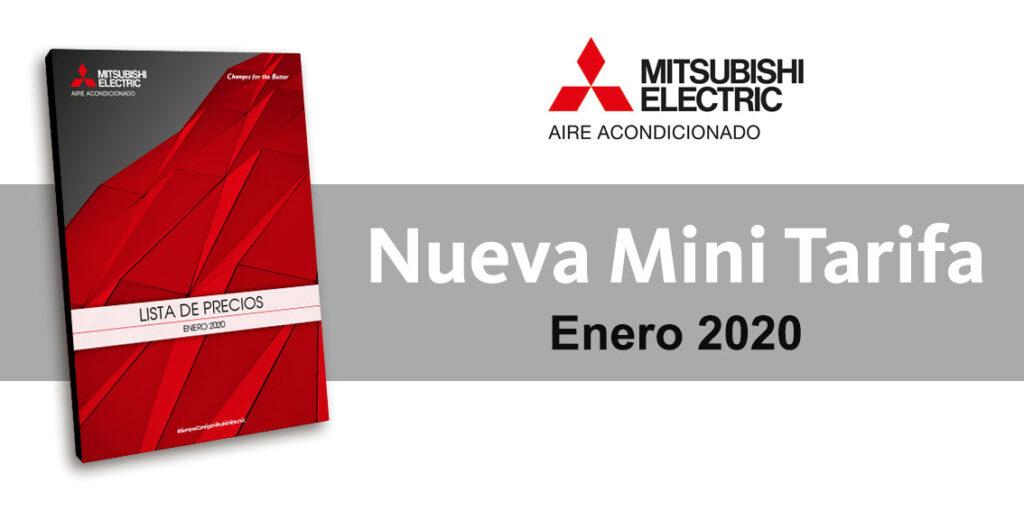 Nueva tarifa Mitsubishi Electric aire acondicionado 2020