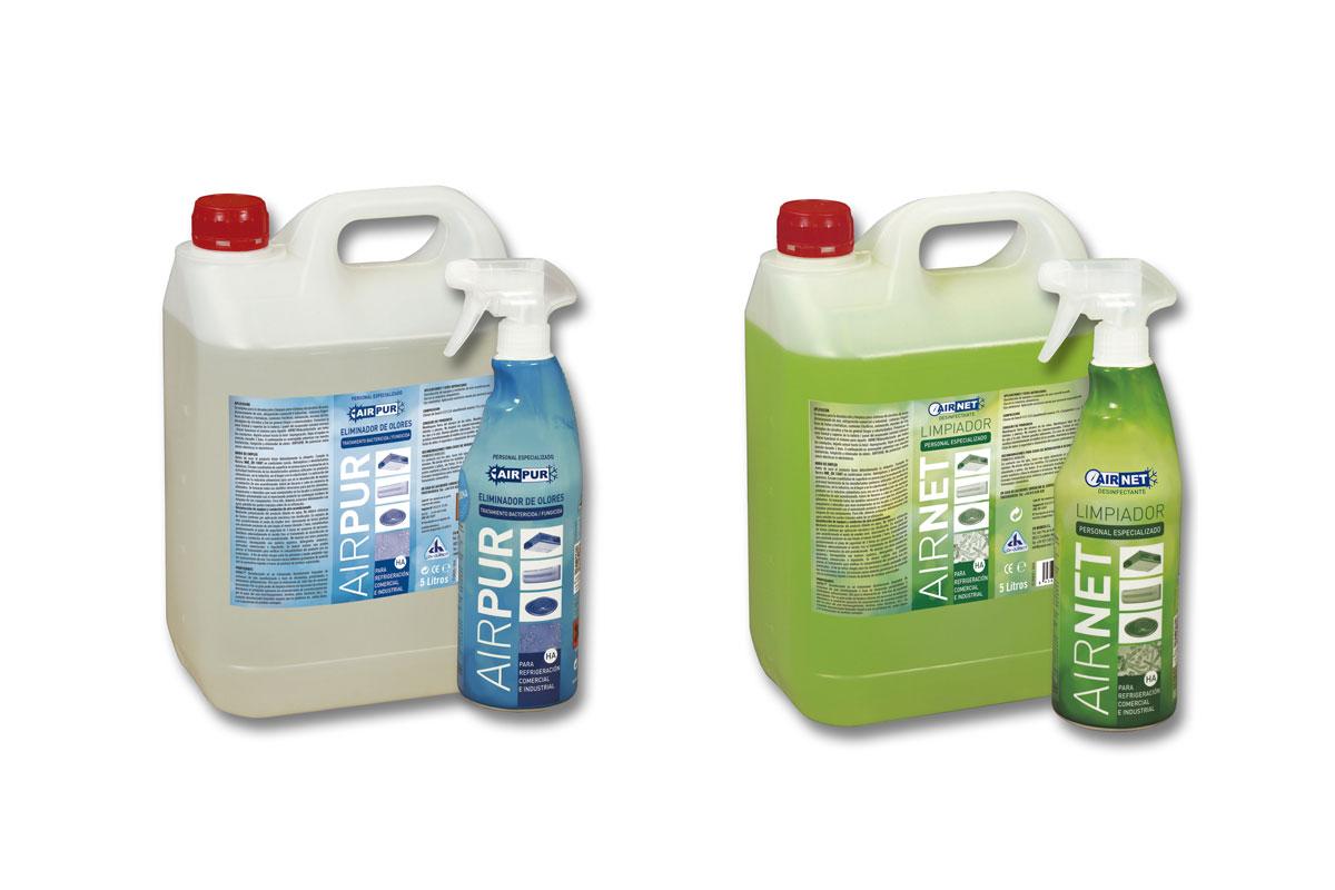 Desinfectantes, limpiadores airnet y airpur