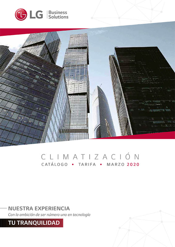 PORTADA TARIFA LG Aire Acondicionado 2020
