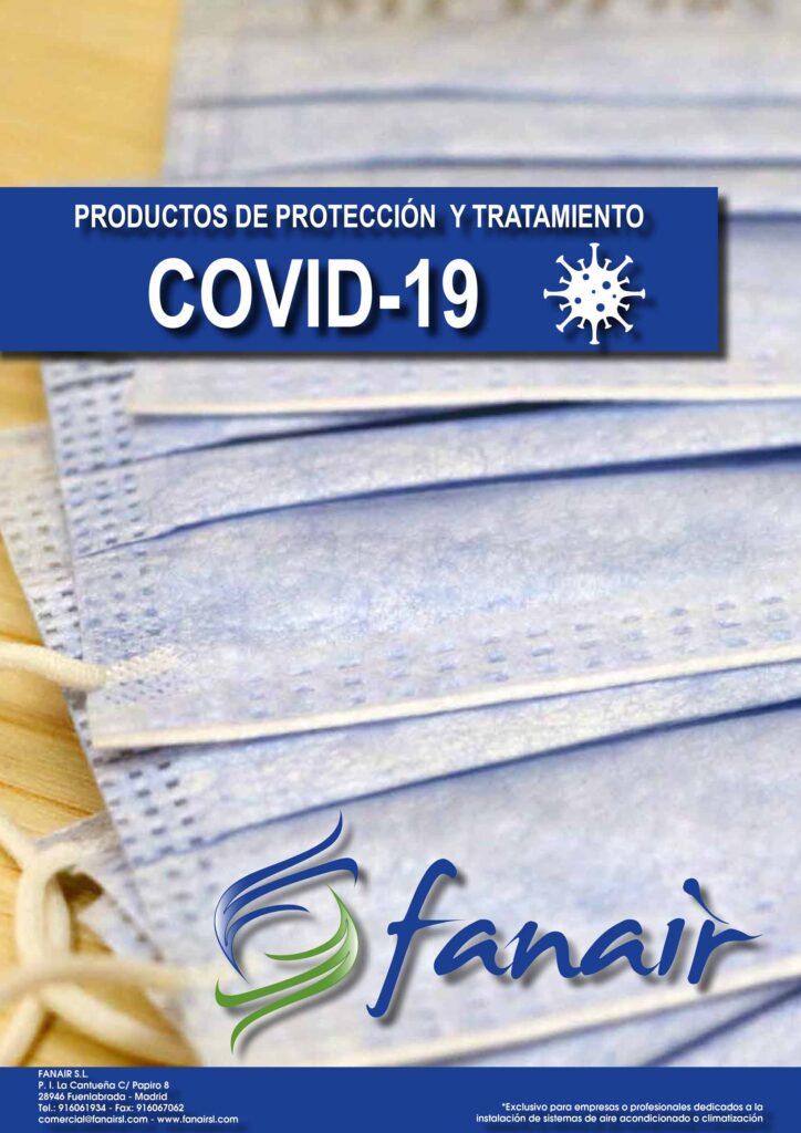 Catalogo FANAIR productos contra COVID19