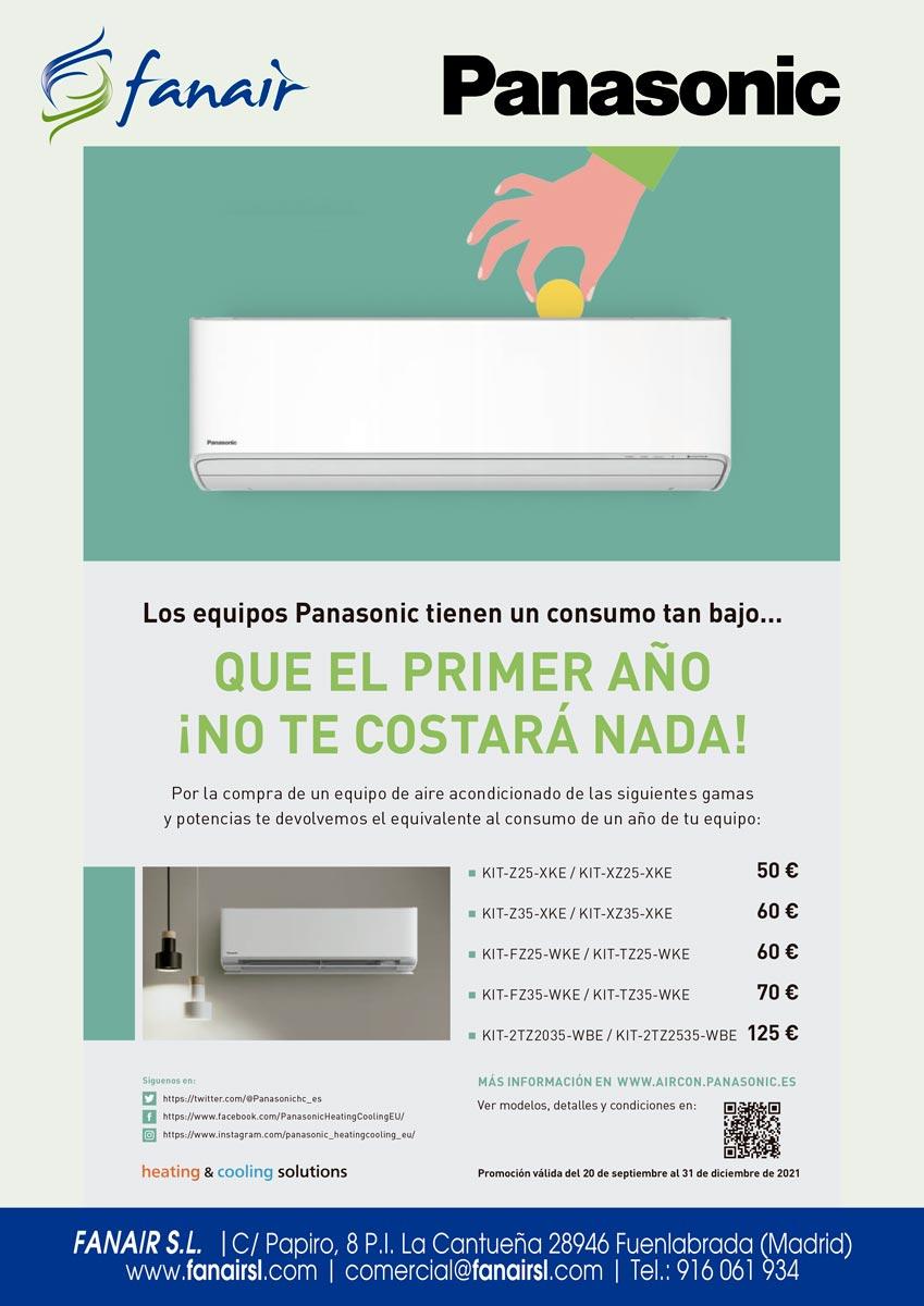 Promoción Panasonic CashBack RAC