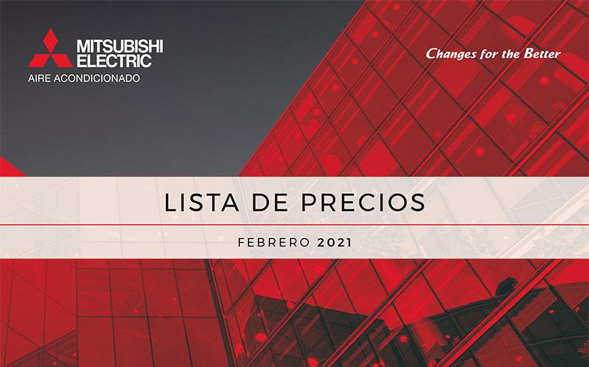 Nueva Tarifa Mitsubishi Electric 2021