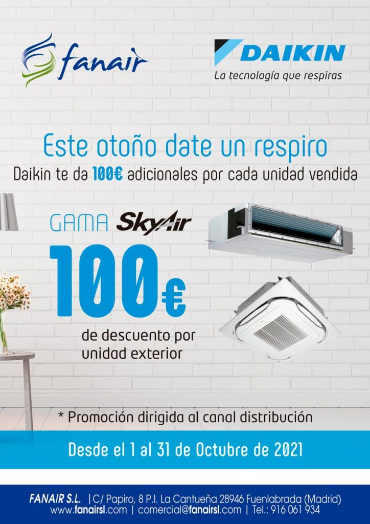 Promoción Daikin Sky Air