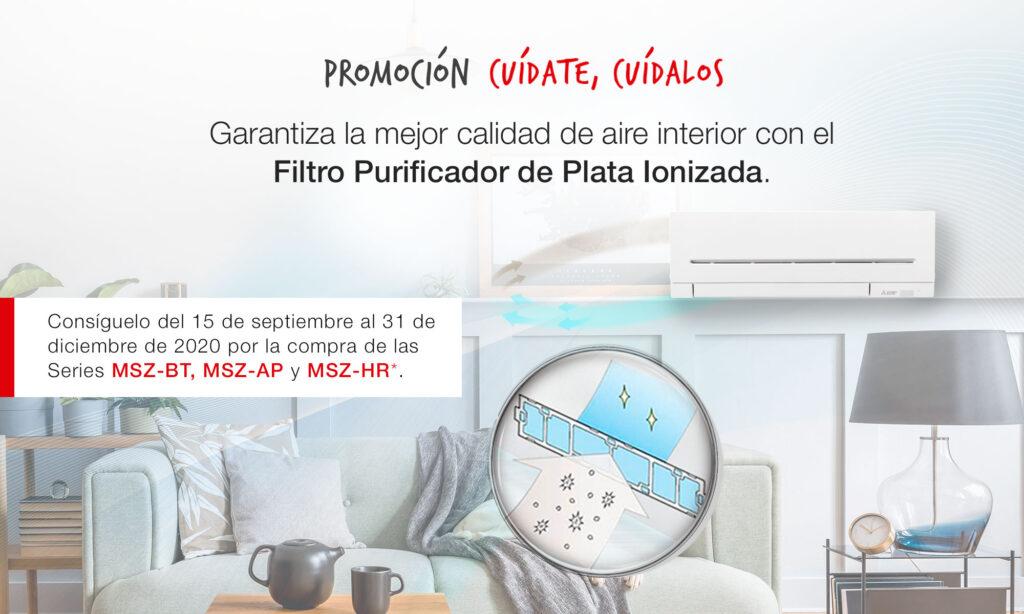 Promoción cuídate, cuídalos con un filtro purificador de plata ionizada