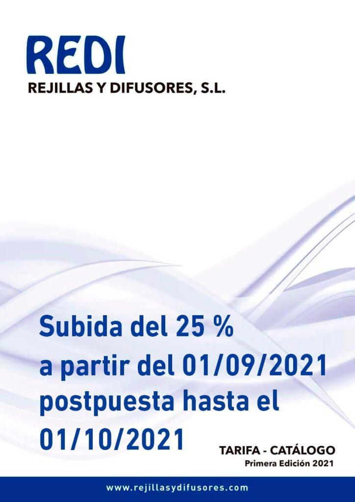 REDI 25 % SUBIDA