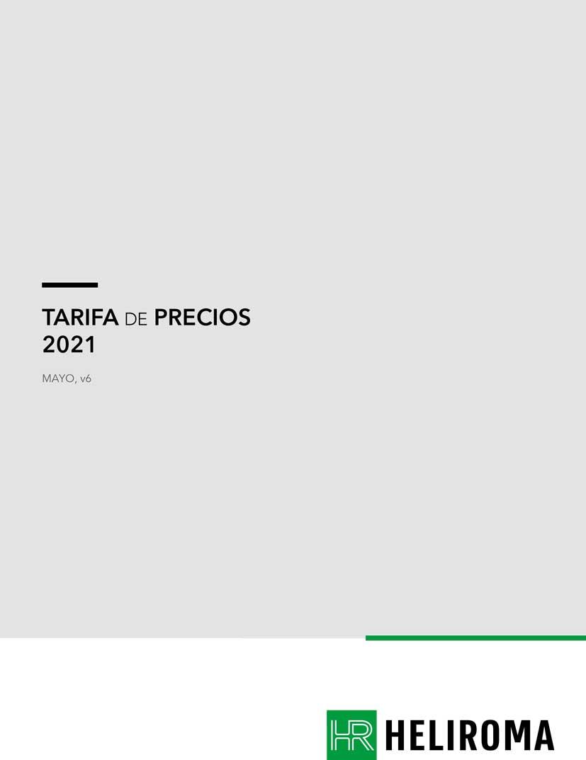 Tarifa MAYO 2021 HELIROMA