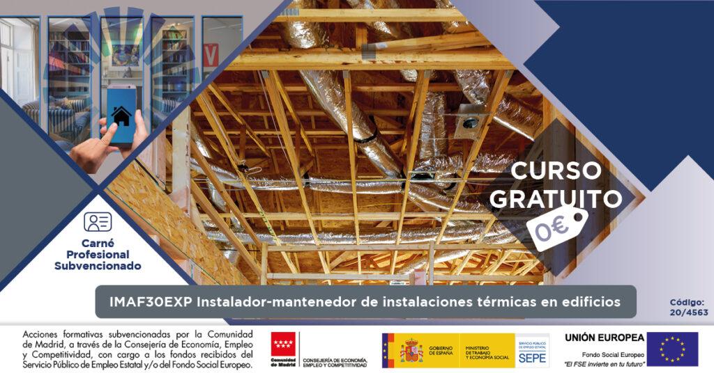 Curso gratuito CEIF Instalador mantenedor de instalaciones térmicas en edificios