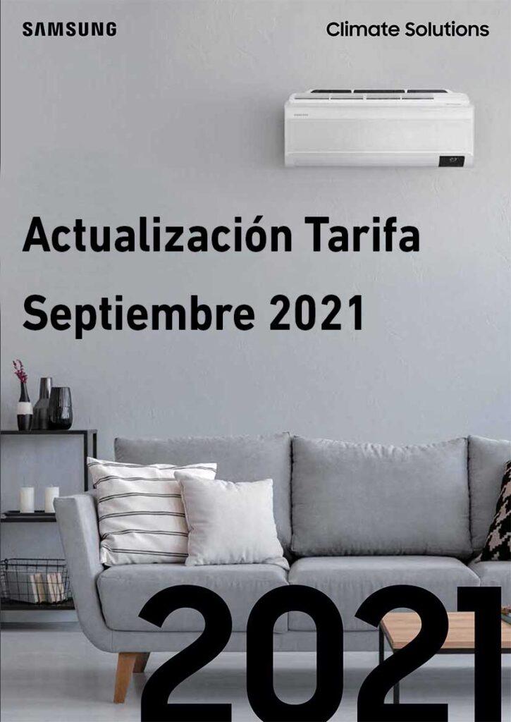 Tarifa Samsung Septiembre 2021