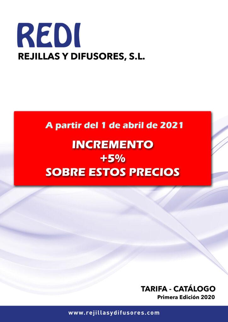 REDI +5% sobre tarifa 2020