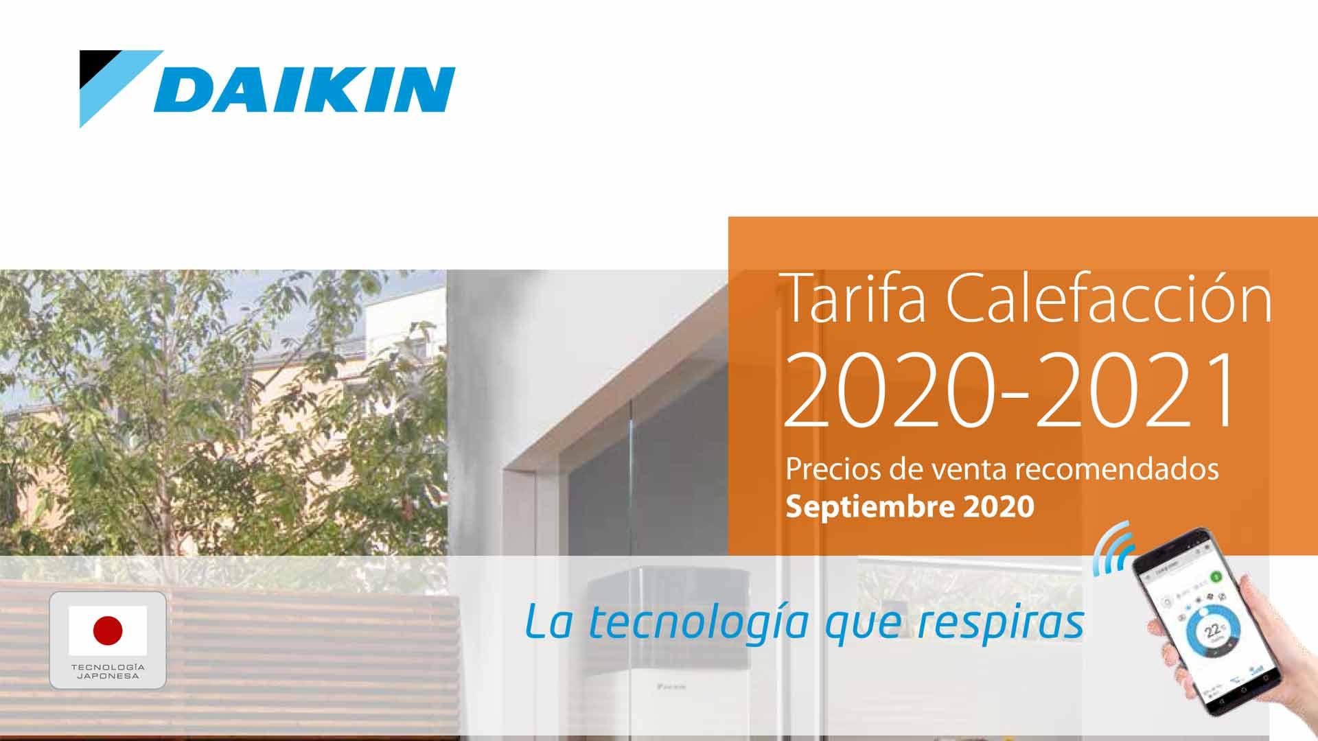 tarifa-calefacción-daikin-2020-2021