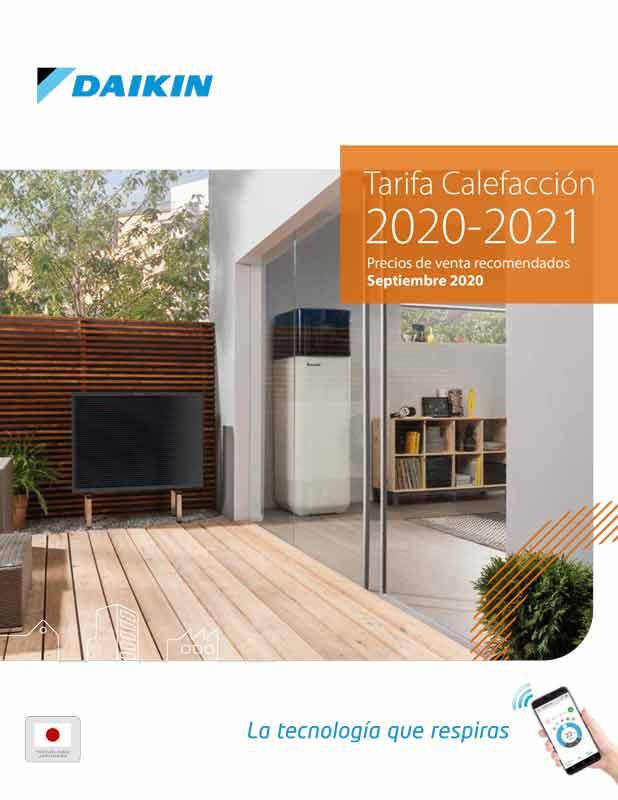 Tarifa calefaccion Daikin 2020-2021
